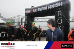Sidharth Routray Ironman Louisville Swim Finish Line