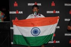 Sidharth Routray Ironman Santa Rosa Finish