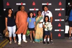 Sidharth Ironman Santa Rosa Finish Sura Routray Family